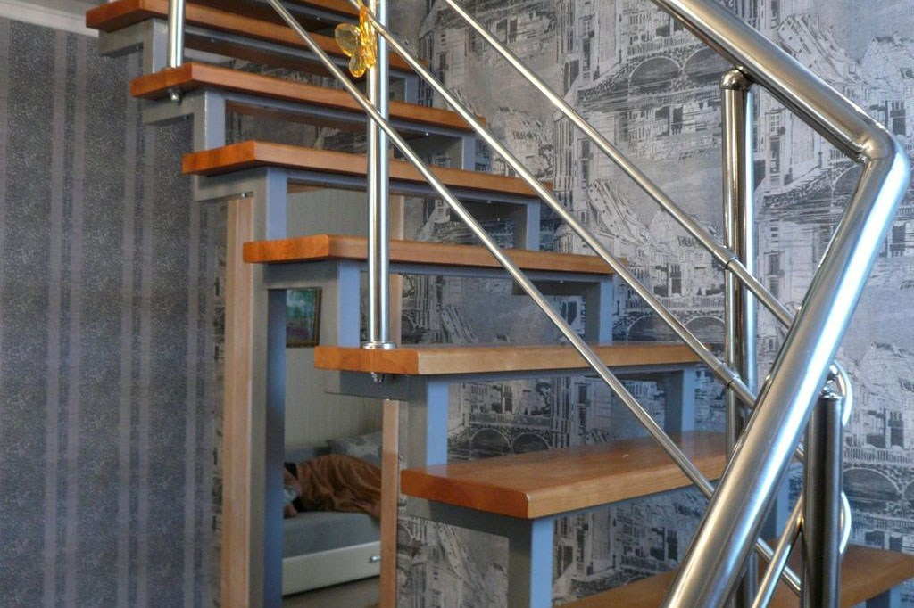 Лестница из металла и бетона своими руками 9