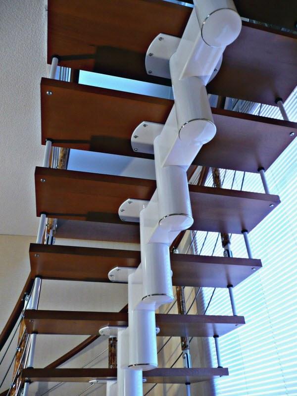 Модульные лестницы на каркасе своими руками